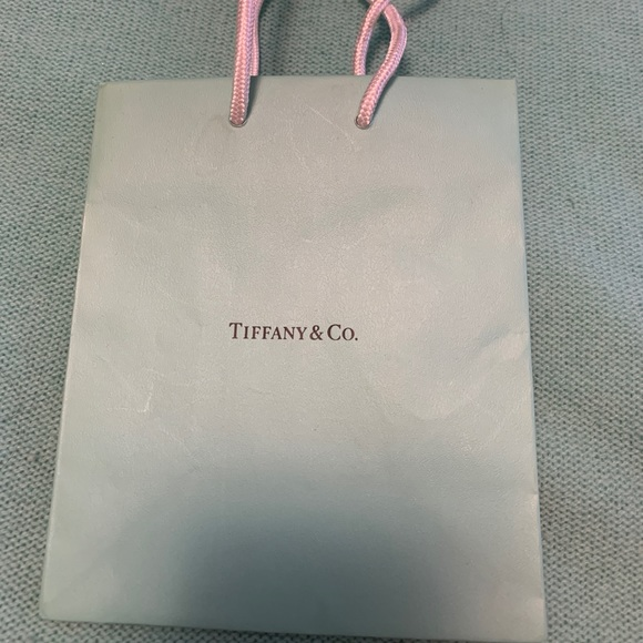 Tiffany & Co. Other - Tiffany & Co mini gift bag new textured Lt blue